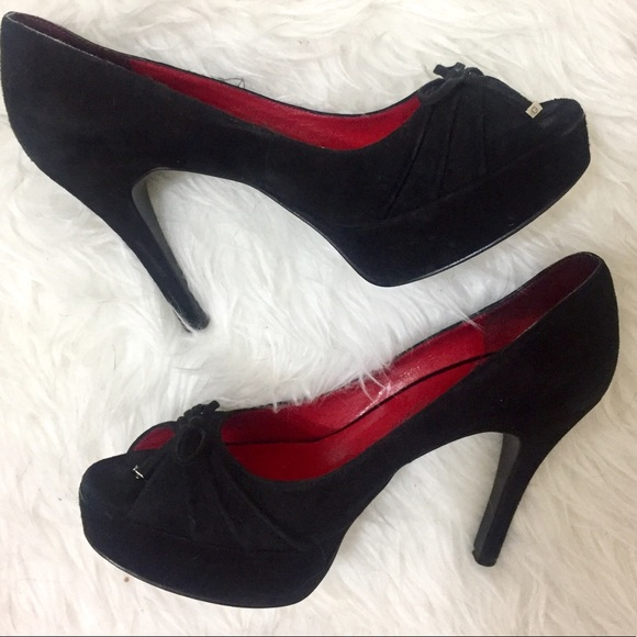 cb7b4b36ff Guess by Marciano Shoes | Black Suede Peep Toe Pumps | Poshmark
